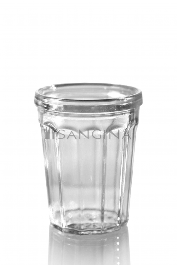 100 ml Glas voll