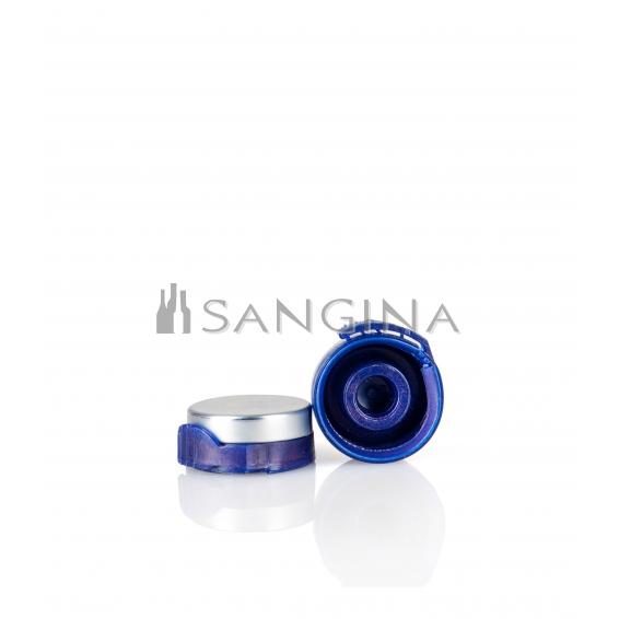 26 mm x 12 mm Aluminium mit blauem Kunststofföffner