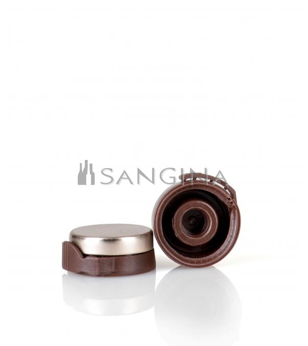 26 mm x 12 mm Aluminium med brun plaståbner