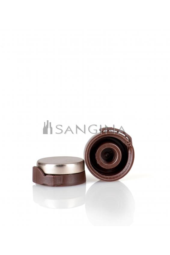 26 mm x 12 mm Aluminium med brun plastöppnare