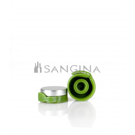 26 mm x 12 mm Aluminium mit grünem Kunststofföffner