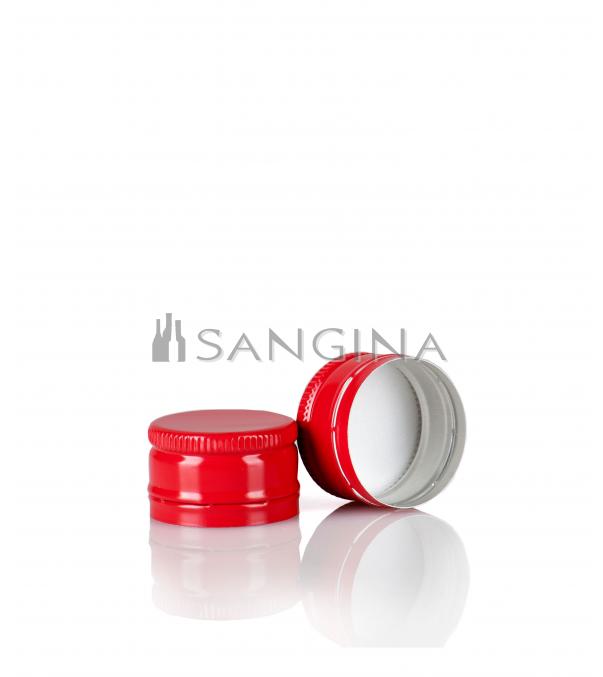28 mm x 18 mm raudonos spalvos kamšteliai