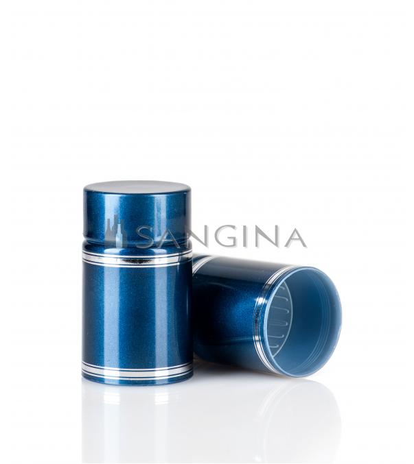 58 x 33,5 mm šviesiai mėlyni plastikiniai kamšteliai