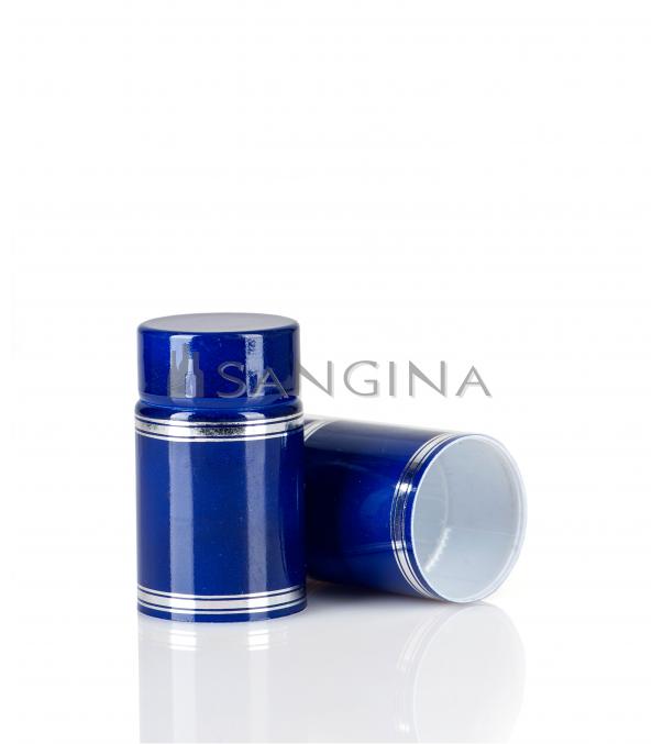 58 x 33,5 mm mėlyni plastikiniai kamšteliai